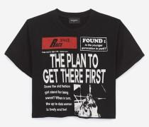 rockiges designer-t-shirt aus baumwolle
