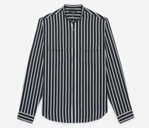 kragenloses Hemd mit n Streifen