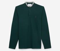 Baumwoll-Poloshirt mit langen Ärmeln