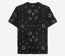Jersey-T-Shirt mit Bandanamotiv
