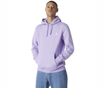 Star Chevron Embroidered Pullover Hoodie Purple