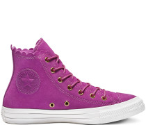 Chuck Taylor All Star Frilly Thrills High Top Gold, Pink