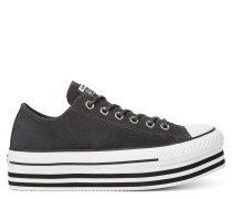 Chuck Taylor All Star Platform Suede Low Top Black, White