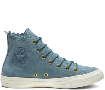 Chuck Taylor All Star Frilly Thrills High Top Blue, Gold