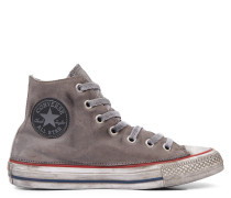 Chuck Taylor All Star Premium Vintage Leather High Top Grey