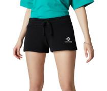 Star Chevron Shorts mit aufgesticktem Logo Black