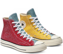 x JW Anderson Chuck 70 Glitter High Top Red, Yellow