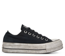 Chuck Taylor All Star Lift Smoked Canvas Low Top Black
