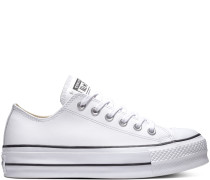Chuck Taylor All Star Lift Clean Leather Low Top White, Black