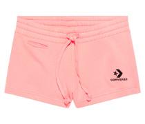 Star Chevron Shorts mit aufgesticktem Logo Pink