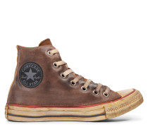 Chuck Taylor All Star Premium Vintage Leather High Top Brown