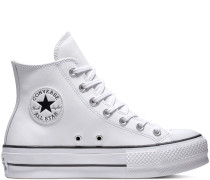 Chuck Taylor All Star Lift Leather High Top White, Black