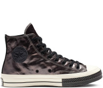 Chuck 70 Flight School Leather High Top Black