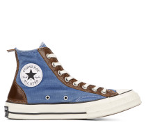 Chuck 70 Vintage Leather High Top Navy