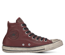 Chuck Taylor All Star Vintage Leather High Top Red
