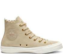 Chuck Taylor All Star Frilly Thrills High Top Beige