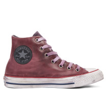 Chuck Taylor All Star Premium Vintage Leather High Top Red