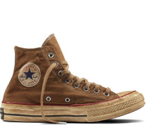 Chuck 70 Dyed Canvas Brown, Black