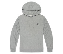 Star Chevron Embroidered Pullover Hoodie Grey