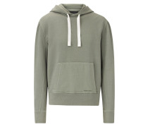 Hoody Garment Dye Molleton Jersey