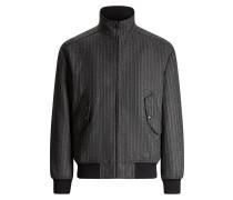 Butler Pinstripe Wool Coat