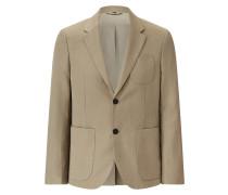 Cassis Linen Cotton Blend Jacket