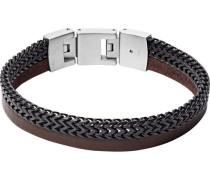 """Armband Vintage Casual """"JF03180040"""", Edelstahl/Leder"""