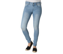 "Jeans ""Lynn"", Mid Skinny, Super-Stretch, Destroyed-Effekte"