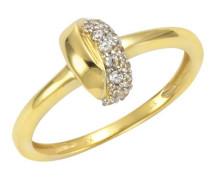 Ring mit Zirkonia5er gold, 56