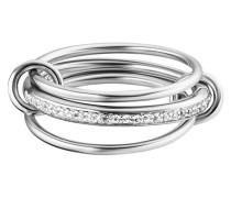 Ring 5/- Sterling Silber rhodiniert Topas