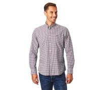 Freizeithemd reine Baumwolle Button-Down-Kragen