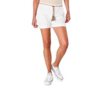 Shorts geflochtener Gürtel Quasten umgeschlagener Saum