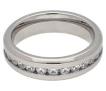 Titan Ring Zirkonia-Steine poliert für