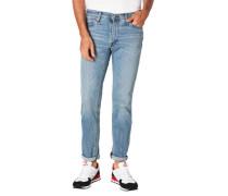 Jeans Slim Fit Baumwoll-Mix Stretch Waschung