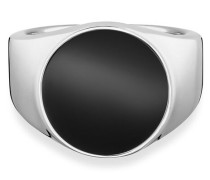 Ring 925/- Sterling Silber rhodiniert Onyx, 62