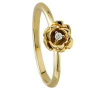 Diamant-Ring 375 , zus. ca. 0,02 ct.