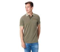 Poloshirt mit Brusttasche und Logoprint, L