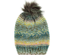 Mütze mit Webpelz-Bommel