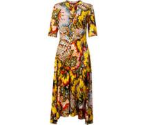 Kleid mit Blumenmuster /grün L