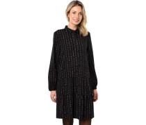 Kleid, Allover-Printangarm, Knopfleiste, für Damen