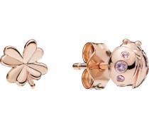 "Ohrstecker Four-Leaf Clover & Ladybird ""287960NPO"" ROSE"