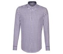 Business Hemd Slim Fit Langarm Button-Down-Kragen Karo /XL