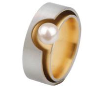 Ring, Edelstahl, üßwasserperle ø 6mm R148