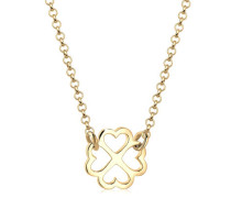 Halskette Kleeblatt Glücksbringer Trend 5 Silber