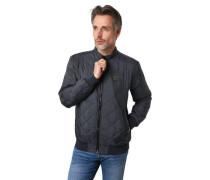 Jacke gesteppt wasserabweisend Rippbund Marken-Patch
