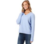 Pullover, V-Ausschnitt, Woll-Anteil, weicher Griff, für Damen,