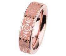"""EDvita Ring """"Rosen"""", Edelstahl Rosegold beschichtet R311"""