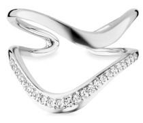 Ring 925/- Sterling Silber rhodiniert Topas, 56