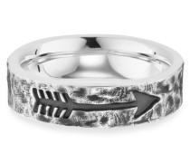 Ring 5/- Sterling Silber rhodiniert matt Pfeil