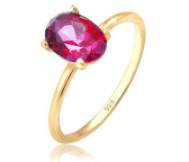 Ring Bandring Topas Edelstein Swarovski® 5er Silber  mm